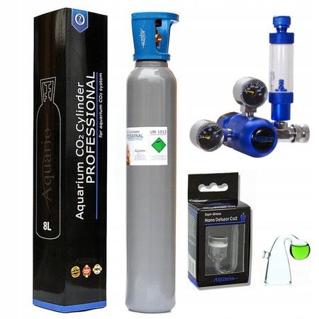ZESTAW CO2 Aquario BLUE Standard Z BUTLĄ 8L PEŁNA (1)
